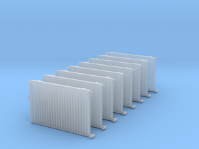 Wall Radiator Heater (x8) 1/64 in Smooth Fine Detail Plastic