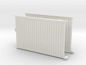 Wall Radiator Heater (x2) 1/43 in White Natural Versatile Plastic