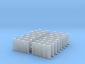 Wall Radiator Heater (x16) 1/87 in Smooth Fine Detail Plastic