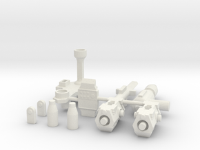 TF WFC Earthrise - Exhaust Kit in White Natural Versatile Plastic