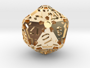 Huge d20 in 14K Yellow Gold
