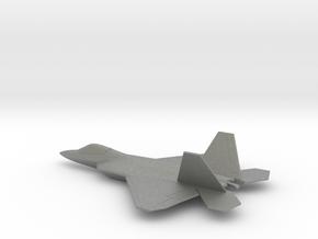 Lockheed Martin F-22 (w/o landing gears) in Gray PA12: 1:200