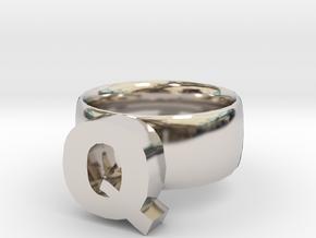 Q Ring in Platinum