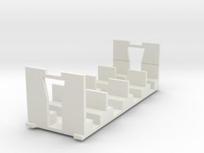 Liliput H0e coach alternative interior in White Natural Versatile Plastic