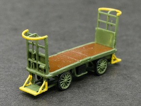 HO Scale (1/87) - Electric Baggage Cart in Frosted Ultra Detail