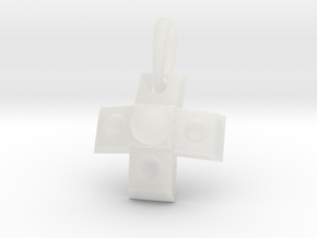 GamePad Charm in Smooth Fine Detail Plastic
