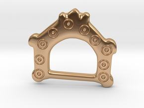 Ring-and-dot Buckle from Bracon Ash in Polished Bronze