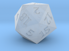 D20 Hourglass Symbol Logo in Smoothest Fine Detail Plastic