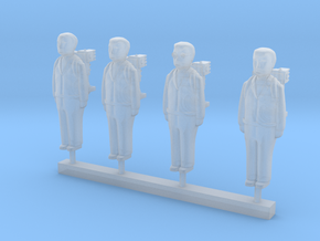 Capsule Ghostbusters Group in Smooth Fine Detail Plastic