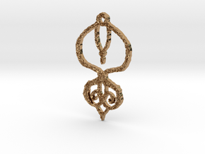 :Baby Lace II: Pendant in Polished Brass