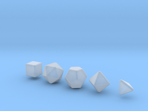 Platonic Solid 10mm - Rounded V2 in Smooth Fine Detail Plastic