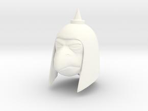 Reptile Man Guard Head in White Processed Versatile Plastic