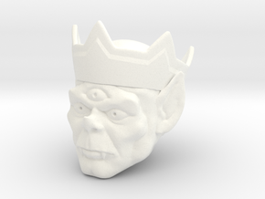 Angast Head in White Processed Versatile Plastic