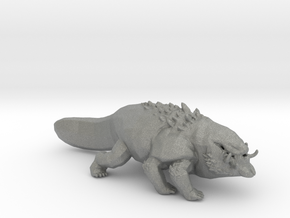 Basilisk miniature model for fantasy games DnD rpg in Gray PA12