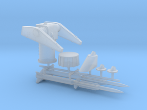 1/200 MK10 Terrier Missile Launcher KIT in Smooth Fine Detail Plastic