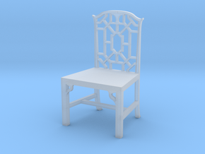 1:24 Chinese Chippendale Chair in Smooth Fine Detail Plastic