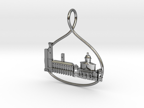 Bologna Cityscape Skyline Pendant in Polished Silver