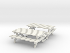 Picknick bank + tafel     HO in White Natural Versatile Plastic