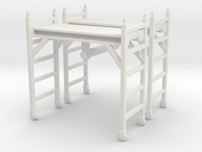 Scaffolding Unit (x2) 1/64 in White Natural Versatile Plastic