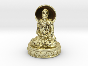 Miniature Buddha in 18k Gold Plated Brass