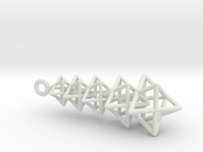 Merkaba Chain in White Natural Versatile Plastic