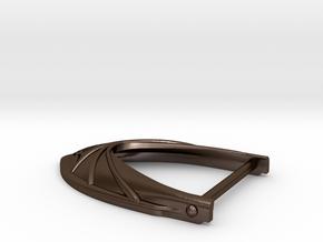 Belt small buckle hero in Polished Bronze Steel