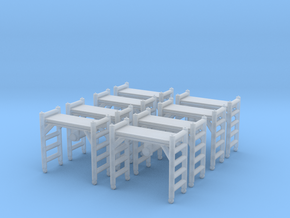 Scaffolding Unit (x8) 1/144 in Smooth Fine Detail Plastic
