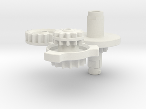 GT-39 DSL Replacement Gears in White Natural Versatile Plastic: Large