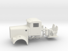 1/64th Kenworth W900B with windshield in White Natural Versatile Plastic