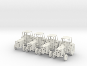 Farm Tractor Ver01. 1:160 Scale (N) in White Natural Versatile Plastic
