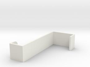 DOOR HOOK in White Natural Versatile Plastic