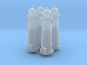 Lighthouse (round) (x4) 1/1000 in Smooth Fine Detail Plastic