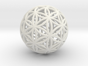 Special Edition 100mm Thick Flower Of Life in White Natural Versatile Plastic