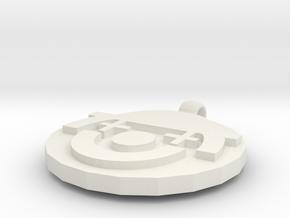 Conko ornament  in White Natural Versatile Plastic