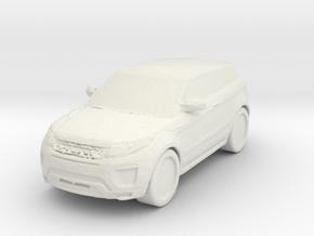 Range Rover Evoque 1/76 in White Natural Versatile Plastic