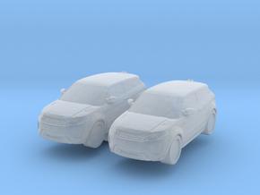 Range Rover Evoque (x2) 1/160 in Smooth Fine Detail Plastic