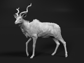 Greater Kudu 1:15 Walking Male in White Natural Versatile Plastic