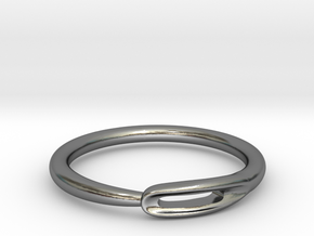 Closed Needle Ring in Polished Silver: 7 / 54
