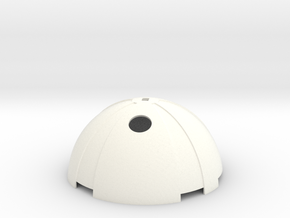 Thermal Detonator Top piece in White Processed Versatile Plastic