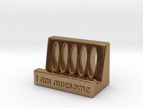 IPhone Stand in Natural Brass