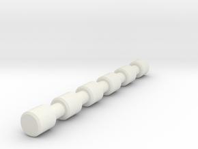 1/6 Scale Spine in White Natural Versatile Plastic