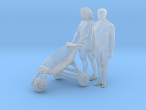 Printle NT Couple 1806 - 1/87 - wob in Smooth Fine Detail Plastic