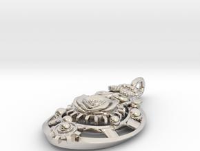 Botanika Mechanicum Pendant in Platinum