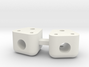 V2 Toyzuki Body Mount for 10.2 Posts (2 each) in White Natural Versatile Plastic