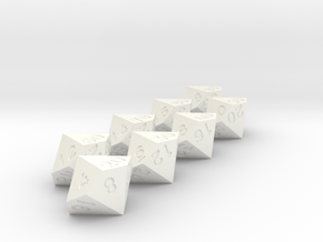 Times tables dice set in White Processed Versatile Plastic