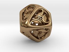 Tengwar Elvish D% (Numbered 00-90) in Natural Brass