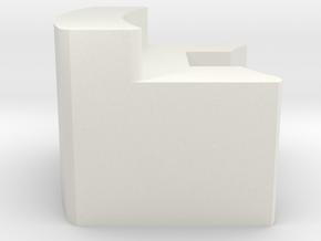 5115 OD Gripper in White Natural Versatile Plastic: 6mm