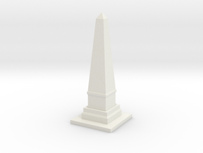 Obelisk Monument 1/87 in White Natural Versatile Plastic