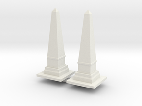 Obelisk Monument (x2) 1/160 in White Natural Versatile Plastic
