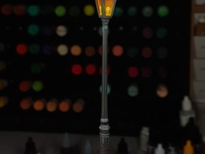 Street lamp 01. 1:48 Scale in Gray PA12